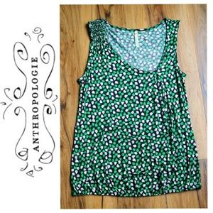 Anthropologie Little Yellow Button Leaf Tank Top S